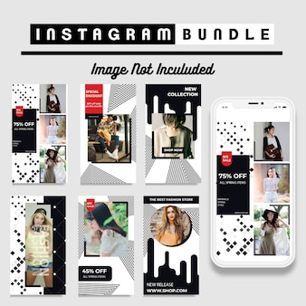 Minimalis instagramファッションストーリーテンプレート