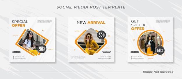 Minimalis 소셜 미디어 포스트 템플릿 컬렉션 인스타그램 패션
