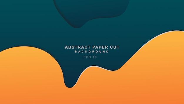 Minimalish paper cut trendy color