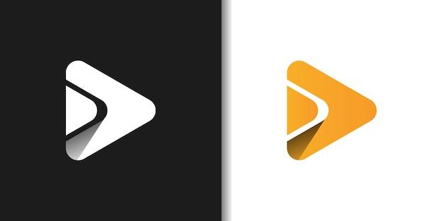 Minimalism play button logo