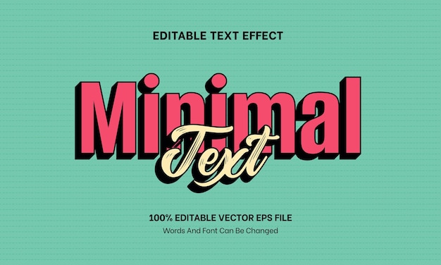 Minimalism simple text effect editable text effect for banner poster