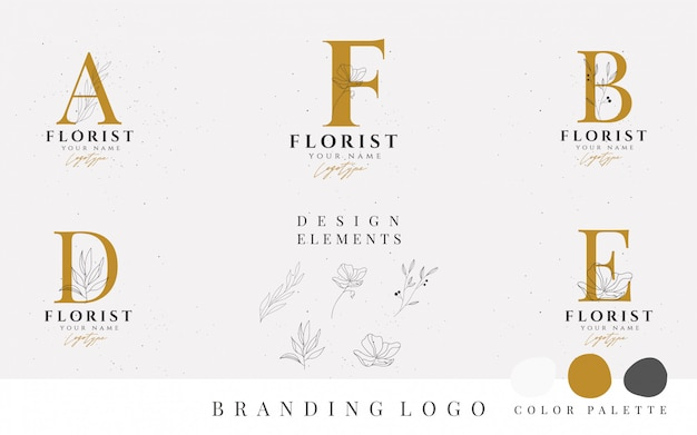Minimalism style vector logo collection.