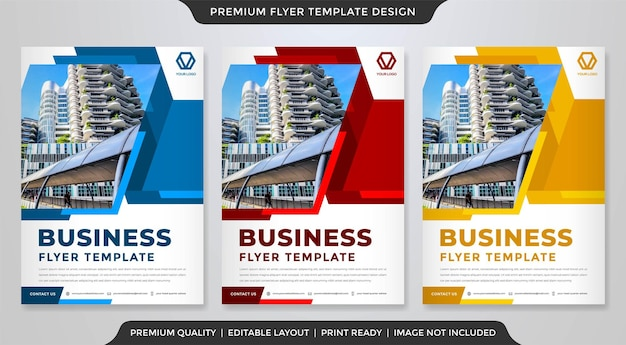 Minimalist a4 flyer layout template premium vector