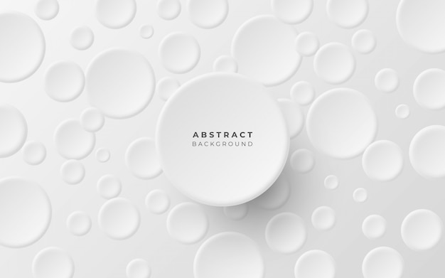 Minimalist abstract background with circles
