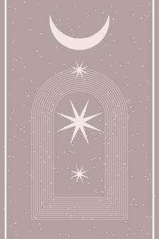 Минималистский абстрактный бохо плакат печать шаблон графической формы значок.