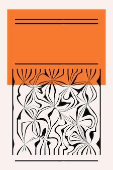 Minimalist abstract boho poster print  template.