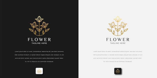 Minimalist abstract flower rose luxury beauty salon, fashion, skincare, cosmetic, yoga and spa products