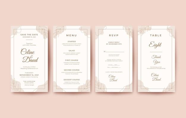 Минималистичное и красивое свадебное приглашение для мобильного