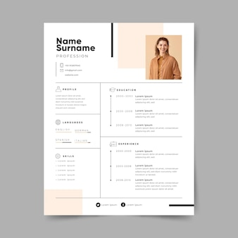 Minimalist application page template