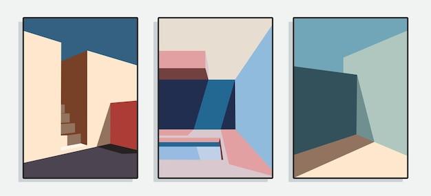Minimalist architecture poster series