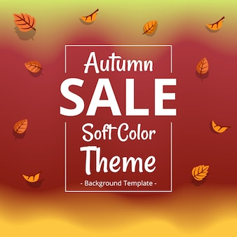 Minimalist autumn theme sale template with border