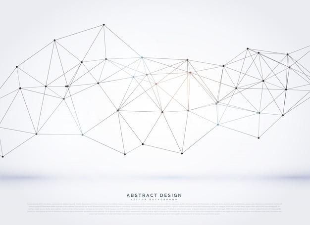 デジタルネットワークワイヤフレームベクトルの背景