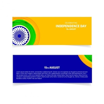 Minimalist banners for the independence day of india