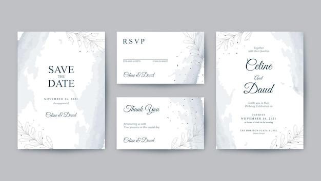 Минималистичный красивый и чистый шаблон свадебного приглашения