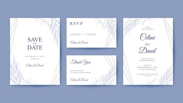 Минималистичный красивый шаблон свадебного приглашения