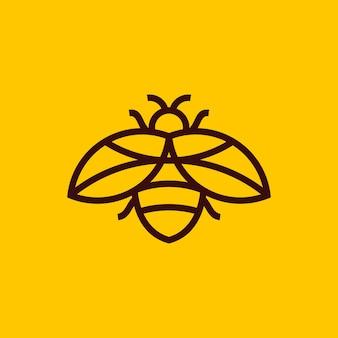 Minimalist bee outline logo