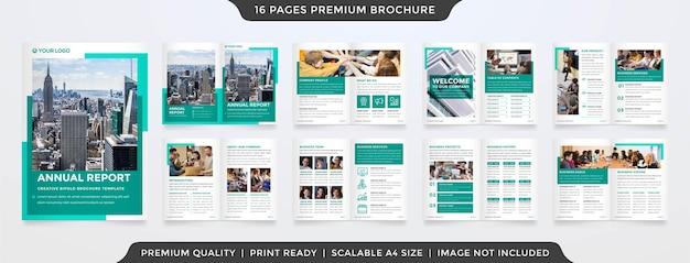 Minimalist bifold brochure template layout premium style