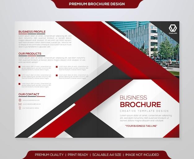 Minimalist bifold brochure template  vector