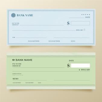 Minimalist blank check template