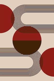 Minimalist boho poster or t shirt print design pattern background
