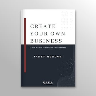 Minimalist book cover template