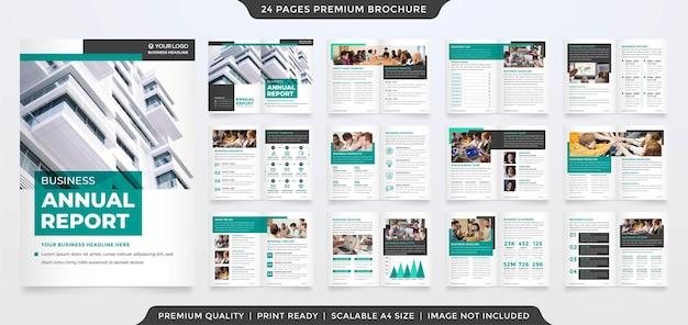 Minimalist brochure template premium style
