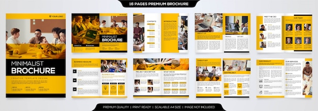 Minimalist brochure template premium vector