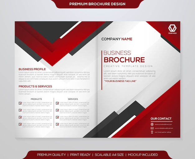 Minimalist brochure template  vector