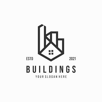ミニマリストの建物のロゴ