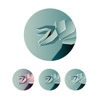 Minimalist bull abstract logo icon