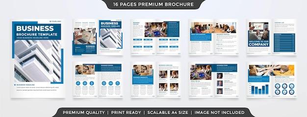 Minimalist business bifold brochure premium vector