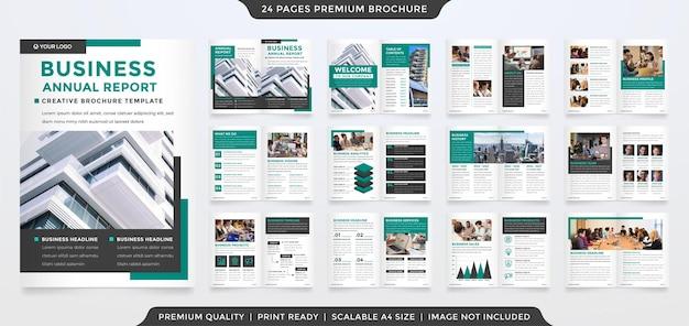 Minimalist business bifold brochure template design