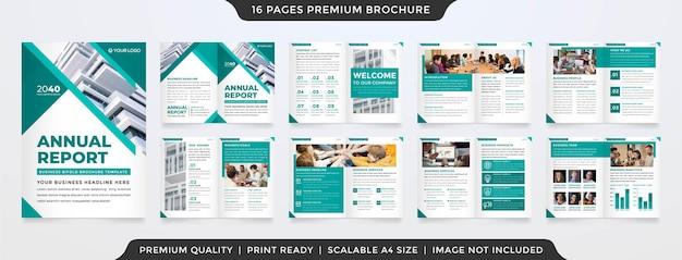 Minimalist business brochure template premium style