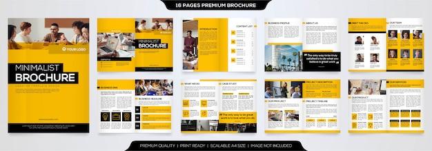 Минималистский бизнес шаблон брошюры премиум