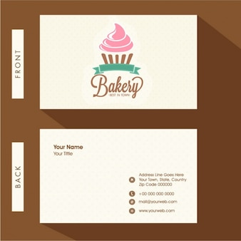 Minimalist business card for bakery
