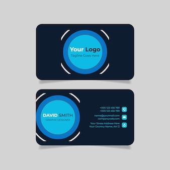 Minimalist business card design creative template