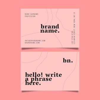 Minimalist business card pack Free Vector