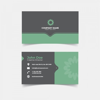 Minimalist business card print template design