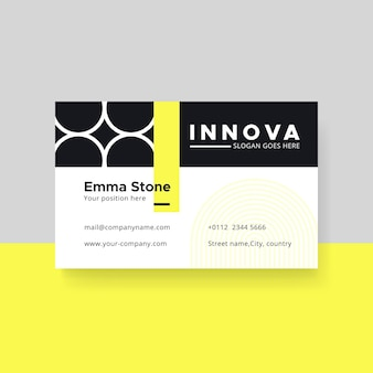 Minimalist business card template with circles