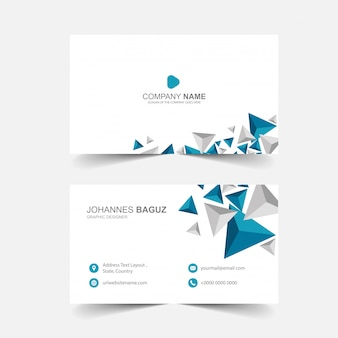 Minimalist business card with abstract