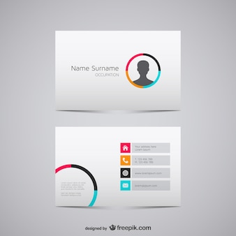 Minimalist business card with man silhouette