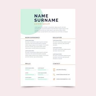 Minimalist business cv stationery template