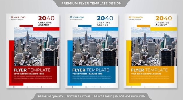 Minimalist business flyer template premium style