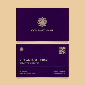 Minimalist business identity cards template