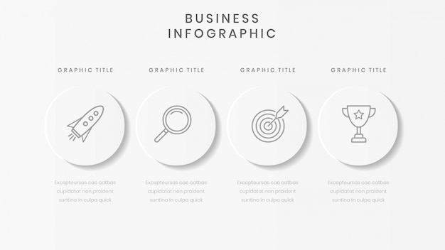 Minimalist business infographic template