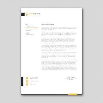 Minimalist business letterhead template