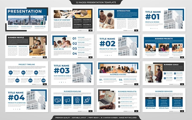Minimalist business presentation template design