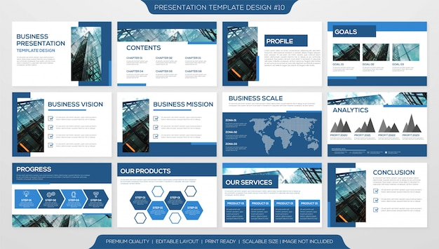 Minimalist business presentation template