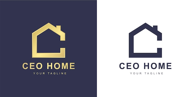 Minimalist c letter logo with  home  or  real estate  concept