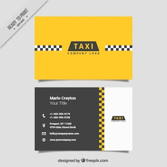 Minimalist cards for taxi service